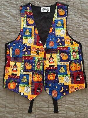 Idea Nuova Harvest Halloween Fall Autumn Teacher Vest Sz M/L 100% Cotton](Halloween Teachers Ideas)