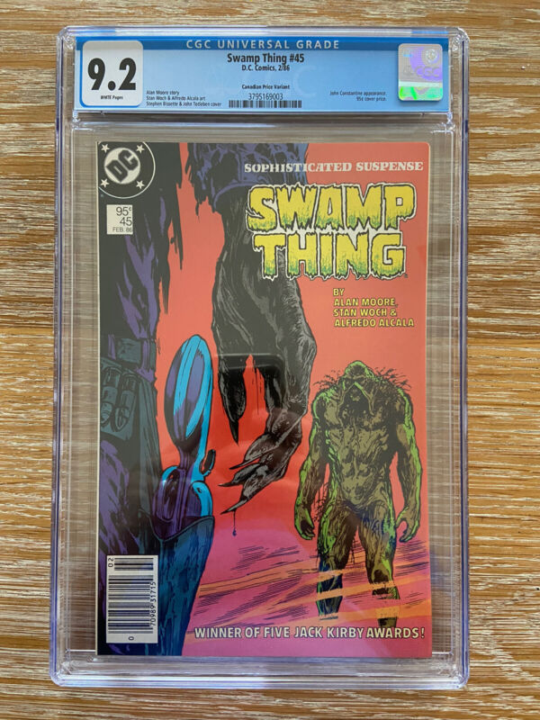 Swamp Thing 45 CGC 9.2 White Pages Canadian Price Variant
