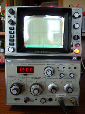 Hp 8558b Opt 002 Converted Back To 50 Ohms Spectrum Analyzer 0.1-1500mhz