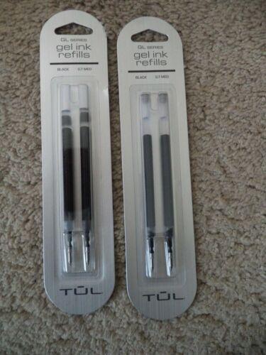 4 TUL GL SERIES Gel Pen Refills Medium Point 0.7MM  BLACK Ink 3507007