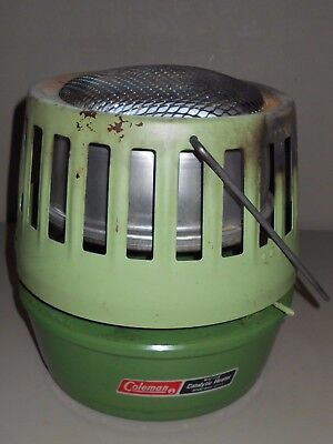 Coleman Tent Heaters - Coleman Catalytic Fuel Heater Two Tone Green 1979 Tent Camper Camp Trailer VTG