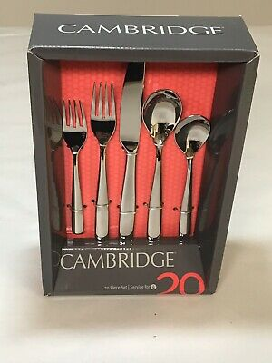 Cambridge Linden Mirror 19 Piece Flatware Silverware New Open Damaged Box - Linden 12 Piece