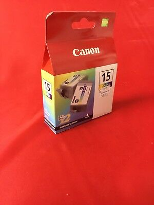 Bci 15 Tri Color - Canon BCI-15 Tri-Color Ink Cartridge 8191A003 Genuine New Sealed Box Twin Pack