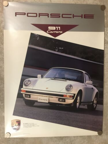 1989 Porsche 911 Carrera Coupe Showroom Advertising Sales Poster RARE! Awesome