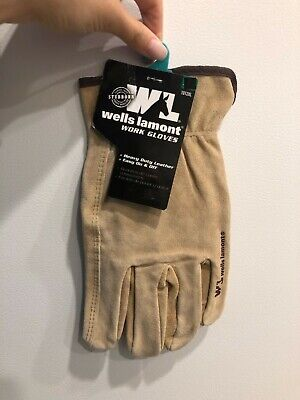 Wells Lamont Suede Cowhide Full Leather Work Gloves