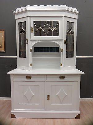 Traumhafter Küchenschrank Weiß um 1910-Shabby Chic  ANTIK-LEIPZIG