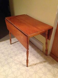 Primitive Antique War Time Drop Leaf Table