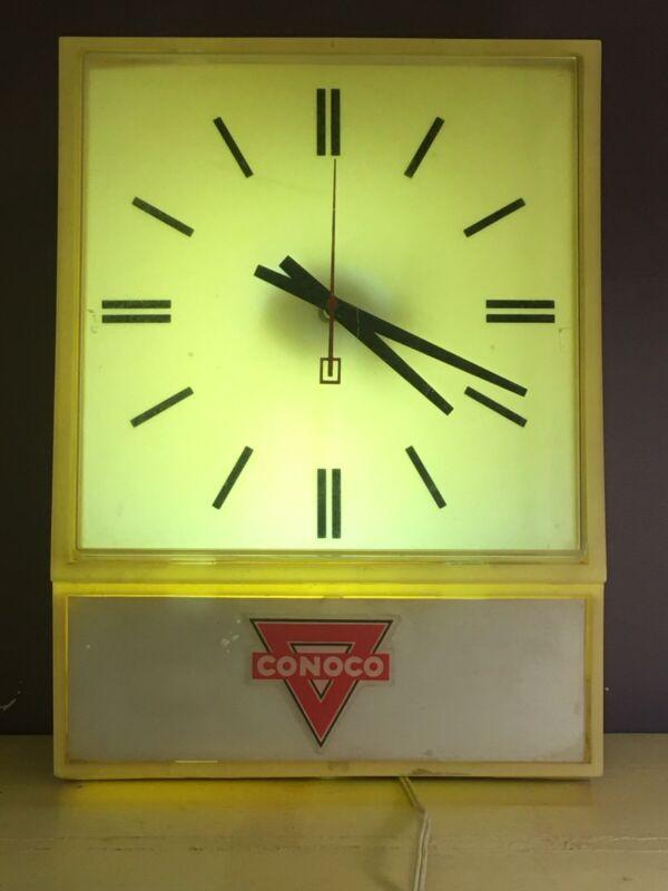 Vintage Conoco Gas Station Clock Works!