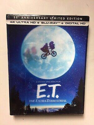 E.T. Limited Edition (4k Blu-ray/Blu-ray, CD, 2017) NEW Lenticular Slipbox](Halloween Box Set 2017)