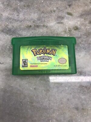 Pokemon LeafGreen Version GBA Gameboy Advance Reproduction Fire Red