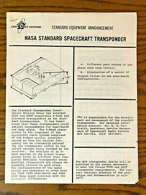1976 1977 NASA Apollo era Low Cost Systems STANDARD EQUIPMENT ANNOUNCEMENTS (7)
