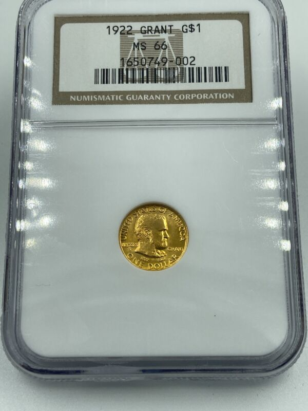 1922 Grant Gold Dollar NGC MS66 Lustrous Coin