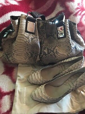 Michael Kors Collection Rehearsal Genuine Python Snakeskin Handbag