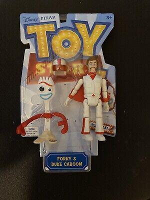 Toy Story 4 Duke Caboom and Forky Disney Pixar Action Figures Mattel 2018 NIP