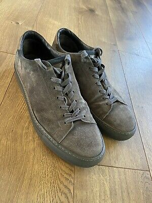 To Boot New York Adam Derrick Fashion Suede Sneakers Shoes Men's 10 Dark Grey