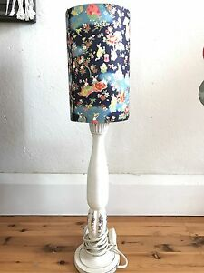 Lamp shade rice paper rabbit shade with timber shabby/coastal base North Manly Manly Area Preview