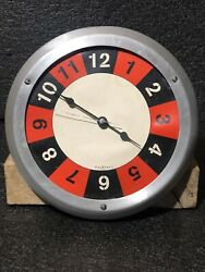 FoxKlox USA Wall Clock Retro Brushed Aluminum Frame Round 10