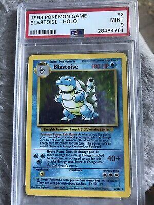 1999 Base Set Holo BLASTOISE 2/102 SHADOWLESS Pokemon Card - PSA 9 Mint