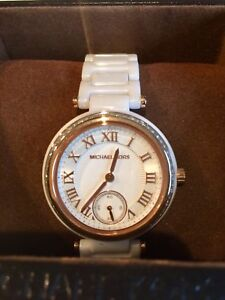 AUTHENTIC MICHAEL KORS CERAMIC ROSE GOLD WATCH