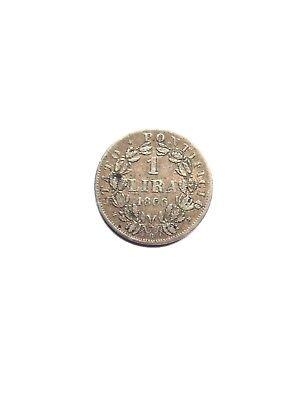 1 Lira 1866 Jahr XXI PIO IX  Max.An.Xi PIVS IX Pon.
