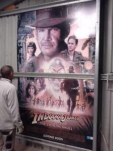 Large Indiana Jones cardboard poster Bairnsdale East Gippsland Preview