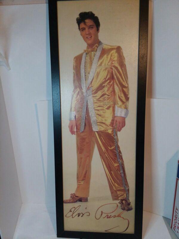 """Framed Elvis Wooden Poster  38""""x14"""""""