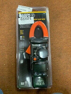 Klein Tools Cl210 400a Ac Auto-ranging Digital Clamp Meter W Temperature New