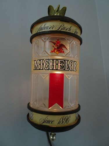 Vintage Anheuser Busch Inc. Michelob Beer Lighted Wall Sign Sconce