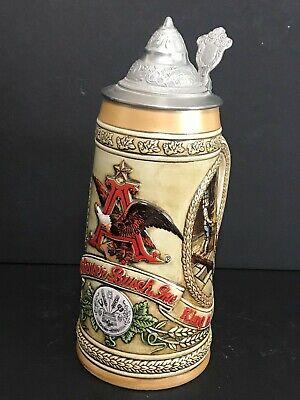 Budweiser Vintage Anheuser Busch Lid Beer Stein Limited Edition B Series