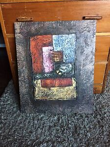 """Abstract Canvas Painting (19"""" X 23"""")"""