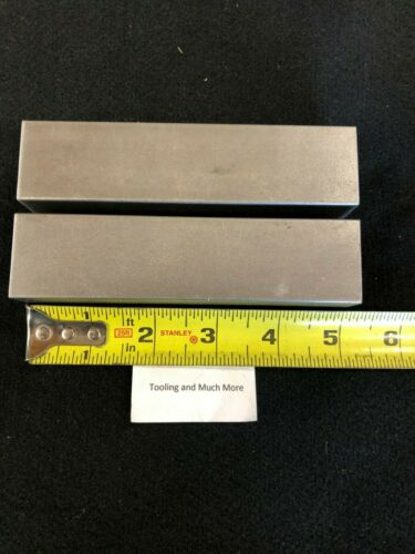 """1-1/4"""" square steel 1018/12L14 Bar, plate 5.00"""" long 2 pieces Lathe or milling"""