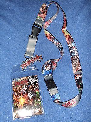 New DC Comics Suicide Squad Deadshot Detachable Keychain Lanyard & Rubber Charm