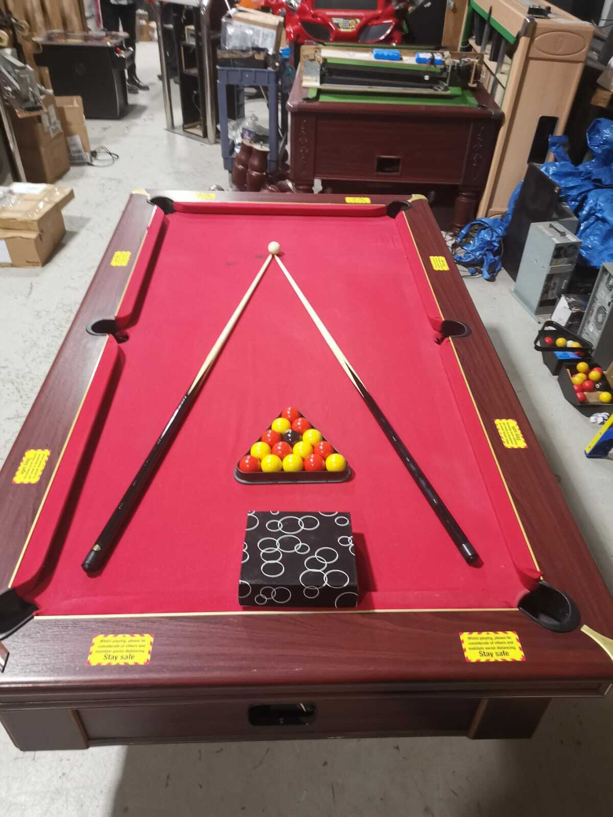 Excel 7x4 Pool Table With Electronic Coin Mech -1
