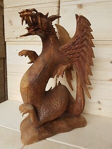 Beautiful Dragon Sculpture, hand-carved