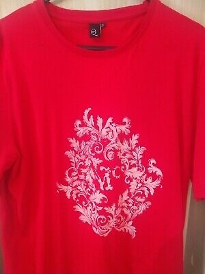Alexander McQueen Men's T Shirt Size Large Red Genuine L