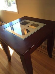 Wood/Glass side table