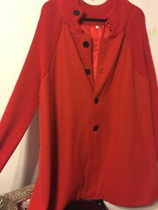 Gently worn red coat size 2x