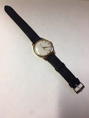 Vintage OMEGA 18K Solid Rose Gold Case Men's Mechanical Hand-Winding Wristwatch
