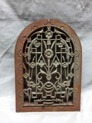 Antique Cast Iron Arch Dome Top Floor Register Heat Grate 8X12 Old Vtg 713-18C
