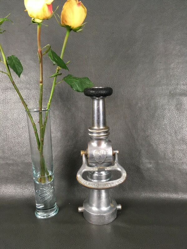 """1917 Elkhart( Two Heads )Lever Shut Off  21/2 """" Fire Nozzle & Tip"""