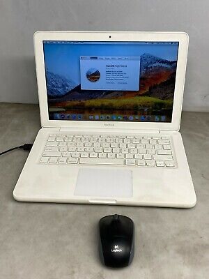 """Apple MacBook 6,1 A1342 Late2009 Core 2 Duo 2.26GHz 4GB 320GB 13"""" *w/Mouse *READ"""