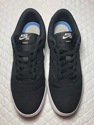 Nike SB Check Solar Black Canvas Skate Life Style Shoes 921463-010 Size-9 Women' ()
