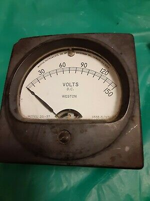 Vintage Weston Electric Panel Meter Gauge 0-150 Volts Stock C172