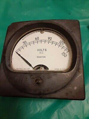 Vintage Weston Electric Panel Meter Gauge 0-150 Volts Stock C172