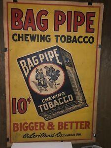 Bag pipe tobacco poster