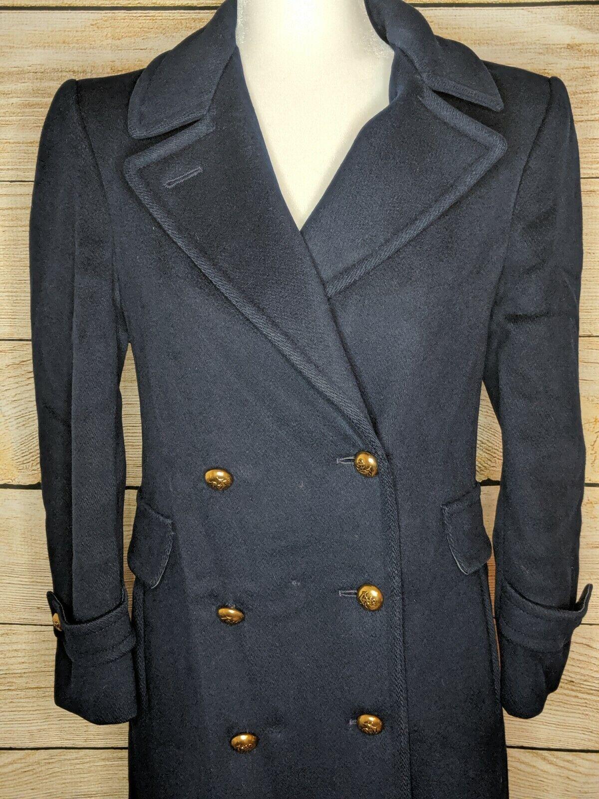 Vintage Evan-Picone Navy Blue 100% Pure Wool Long