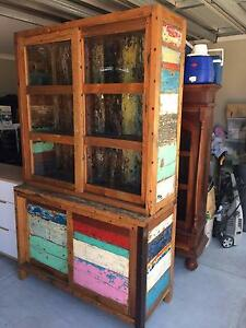 Bali style solid wood cabinet or book shelf Stirling Stirling Area Preview
