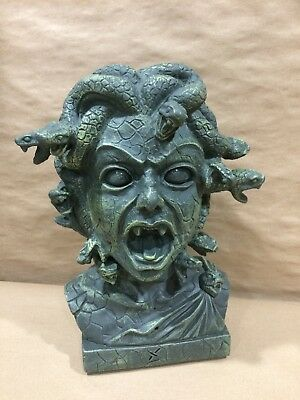 Medusa Head Bust Moving Snakes Lights Up Talks Motion Activated Halloween Prop