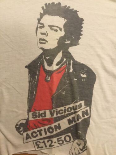 Vintage SID VICIOUS Action Man T-Shirt 80's SEX PISTOLS