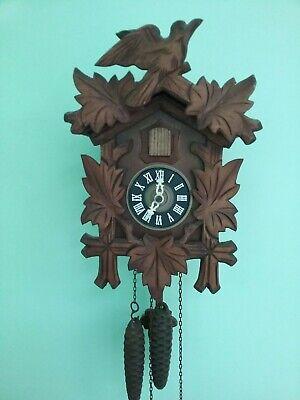 Cuckoo Clock Vintage German Carved Black Forrest NEW Working w/Directions
